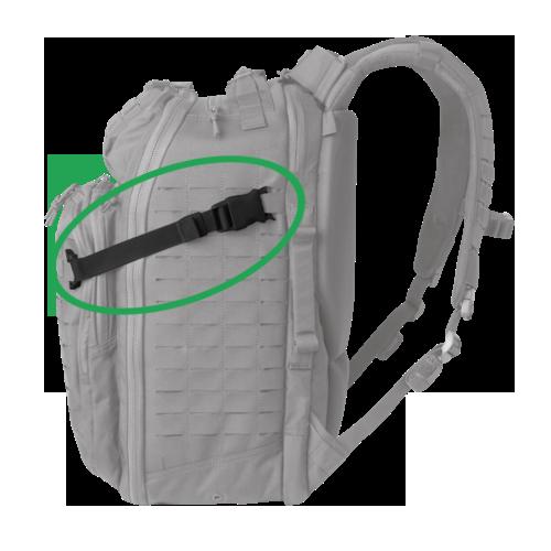 backpack compressieband